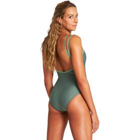 arena Solid U Back One Piece Swimsuit Women, oliwkowy